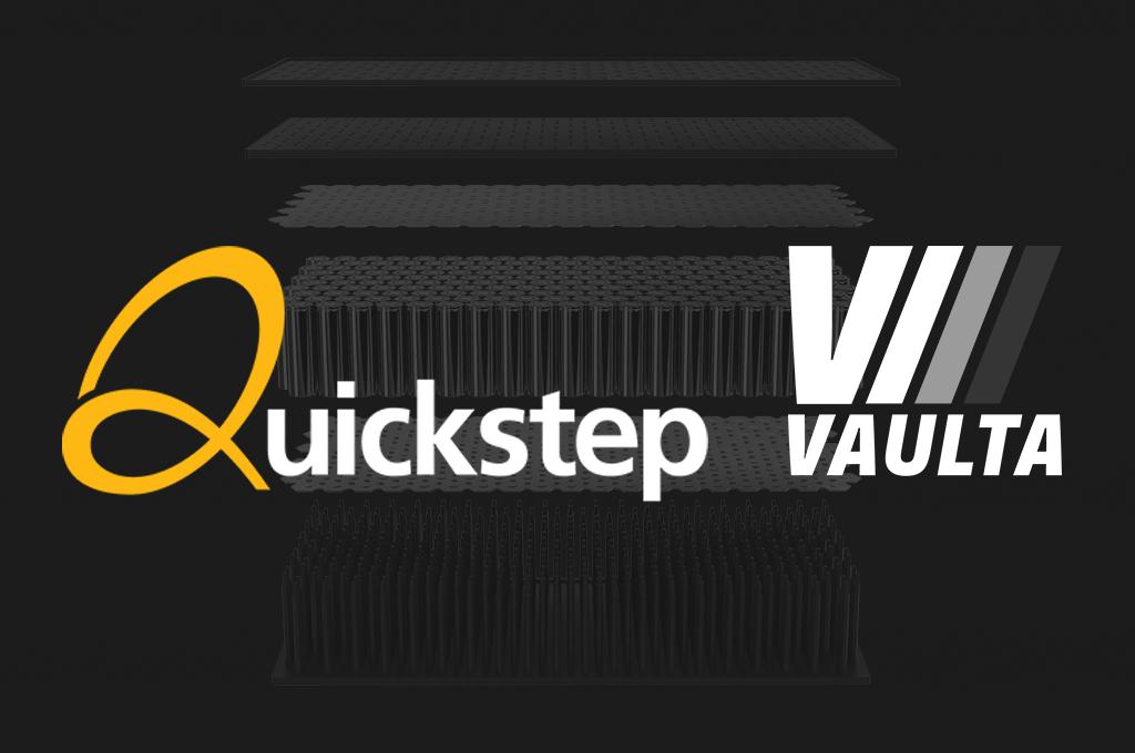 Quickstep and Vaulta logos